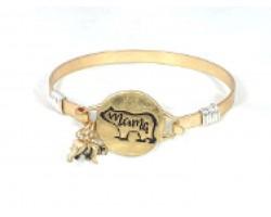 Gold Mama Bear Wire Wrap Bracelet