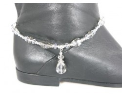 Black Diamond Crystal Teardrop Shoe Boot Jewelry