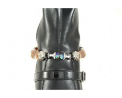 Rust Color Clay Barrel Bead Crystal Pearl Shoe Boot Jewelry