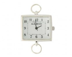 Silver Plate Large Plain Square Change Out Watch Face Loop