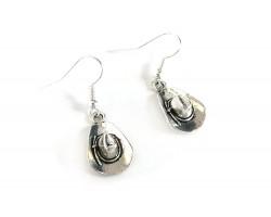 Silver Cowboy Hat Hook Earrings