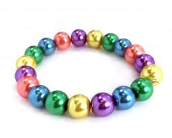 Light Multi Pearl Bead Mix Stretch Bracelet